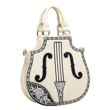 Violin Women PU Synth Leather Handbag Fancy Lolita Gothic Palace Embroidered Shoulder Bag