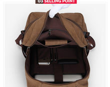 Canvas Vintage Casual Earth Colors Laptop Backpack