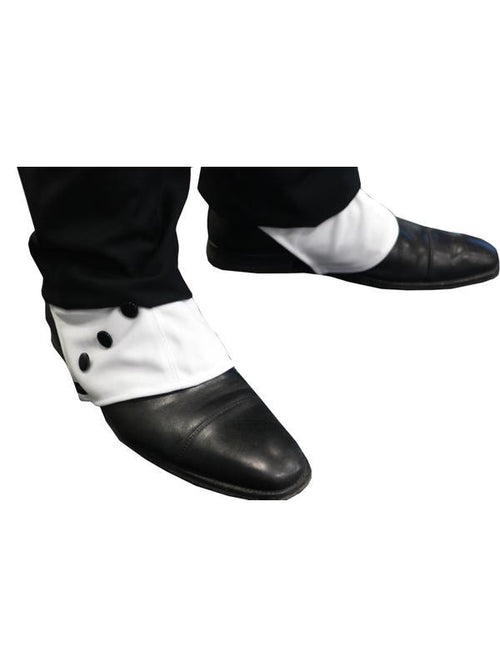 1920's Deluxe Shoe Spats-Leg Wear-Jokers Costume Hire and Sales Mega Store