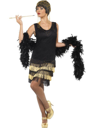 1920s Fringed Flapper Costume-Jokers Costume Mega Store