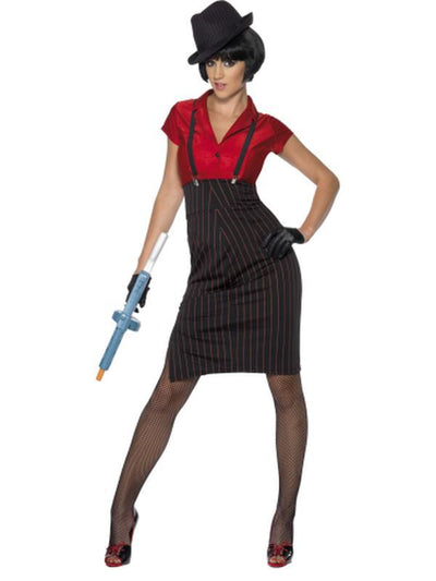 1920s Gangster Costume, Red and Black-Costumes - Women-Jokers Costume Hire and Sales Mega Store