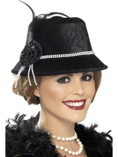 1920s Hat-Hats and Headwear-Jokers Costume Hire and Sales Mega Store