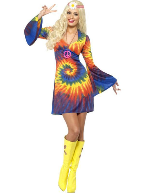 1960s Tie Dye Costume-Costumes - Women-Jokers Costume Hire and Sales Mega Store