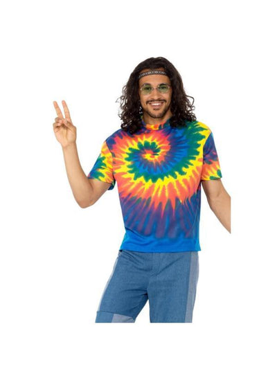 1960s Tie Dye T-Shirt-Costumes - Mens-Jokers Costume Hire and Sales Mega Store
