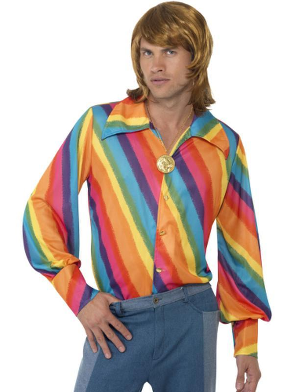 1970s Colour Shirt-Costumes - Mens-Jokers Costume Hire and Sales Mega Store