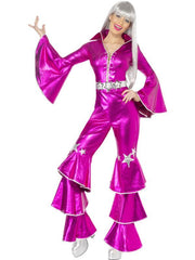 1970s Dancing Dream Costume - Pink-Costumes - Women-Jokers Costume Hire and Sales Mega Store