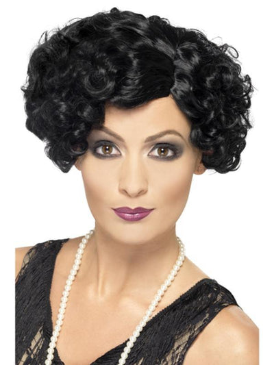 20s Flirty Flapper Wig - Black-Wigs-Jokers Costume Hire and Sales Mega Store