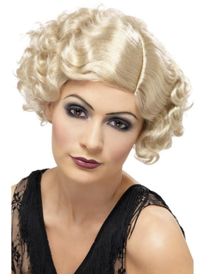 20s Flirty Flapper Wig - Blonde-Jokers Costume Mega Store