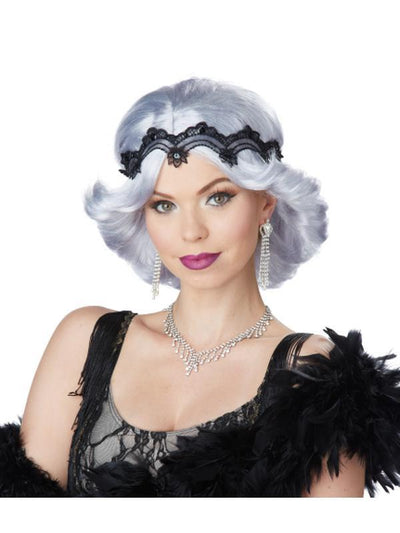 20S GLITZ AND GLAMOUR WIG AND HEADBAND-Wigs-Jokers Costume Hire and Sales Mega Store