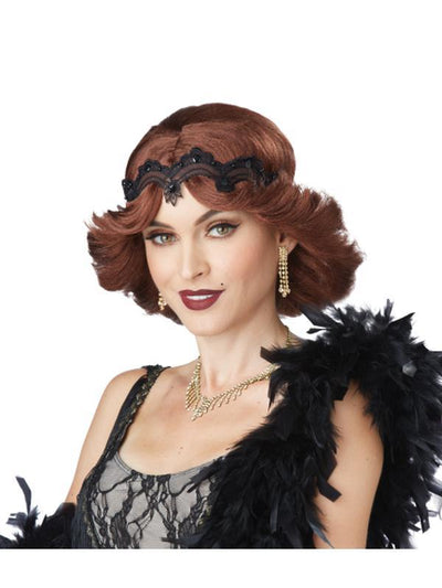 20S GLITZ AND GLAMOUR WIG & HEADBAND-Wigs-Jokers Costume Hire and Sales Mega Store