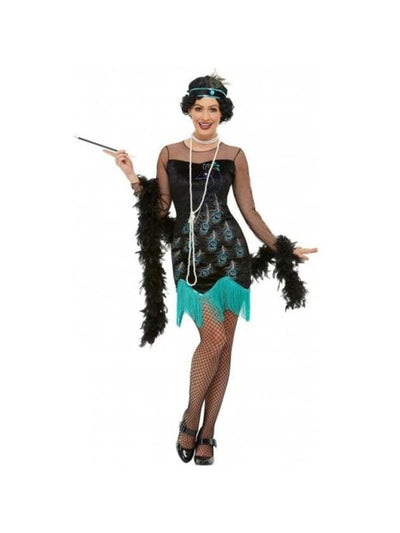 20s Peacock Flapper Costume-Costumes - Women-Jokers Costume Mega Store