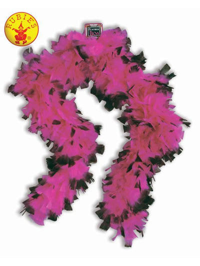 20S PINK AND BLACK BOA-Costume Accessories-Jokers Costume Hire and Sales Mega Store