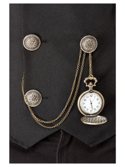 20s Pocket Fob Watch, Assorted Designs-Costume Accessories-Jokers Costume Mega Store