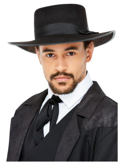 20s Wide Brim Fedora Hat-Hats and Headwear-Jokers Costume Mega Store