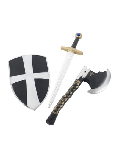 3 Piece Crusader Set-Weapons-Jokers Costume Hire and Sales Mega Store