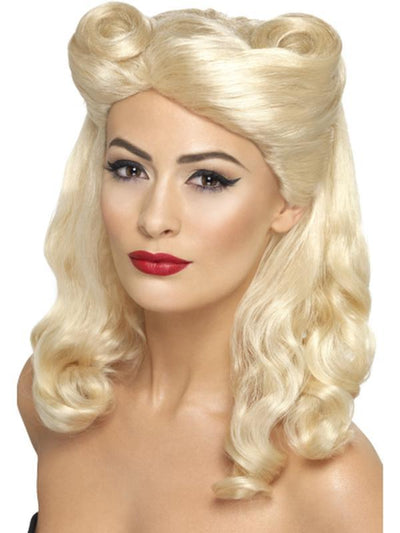 40s Pin Up Wig-Wigs-Jokers Costume Hire and Sales Mega Store