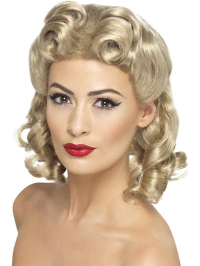 40s Sweetheart Wig-Wigs-Jokers Costume Hire and Sales Mega Store