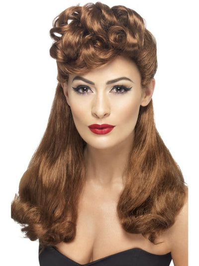 40s Vintage Wig - Auburn-Wigs-Jokers Costume Hire and Sales Mega Store