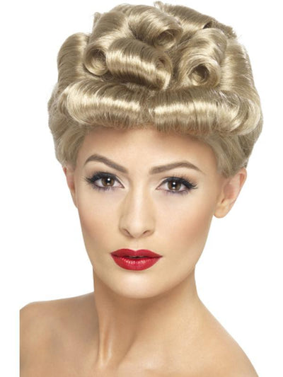 40s Vintage Wig - Blonde-Wigs-Jokers Costume Hire and Sales Mega Store