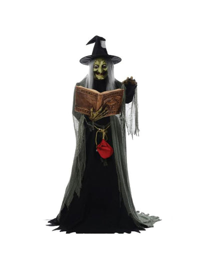 5' Animated Spell-Speaking Witch-Halloween Props and Decorations-Jokers Costume Mega Store