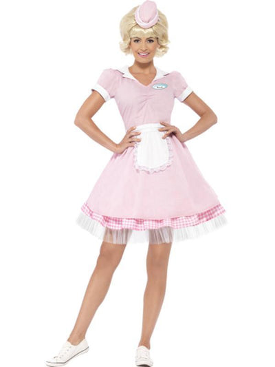 50s Diner Girl Costume-Costumes - Women-Jokers Costume Hire and Sales Mega Store