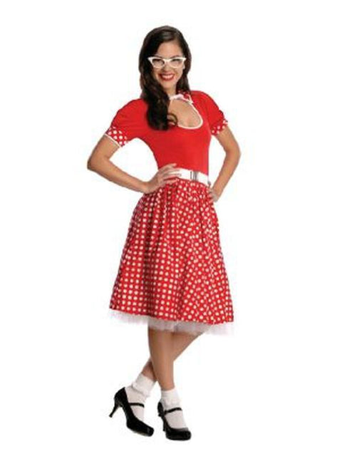 50'S Nerd Girl Costume - Size S-Costumes - Women-Jokers Costume Hire and Sales Mega Store