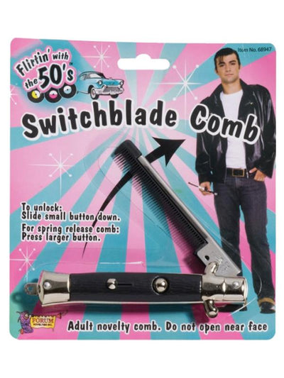 50s Switch Blade Comb - Grease-Costume Accessories-Jokers Costume Hire and Sales Mega Store