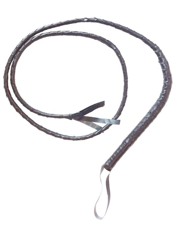 6 ft Whip - Brown (Indiana Jones Style)-Weapons-Jokers Costume Hire and Sales Mega Store