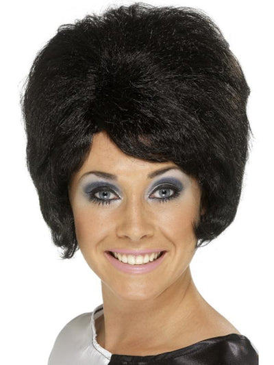 60s Beehive Wig - Black-Wigs-Jokers Costume Hire and Sales Mega Store