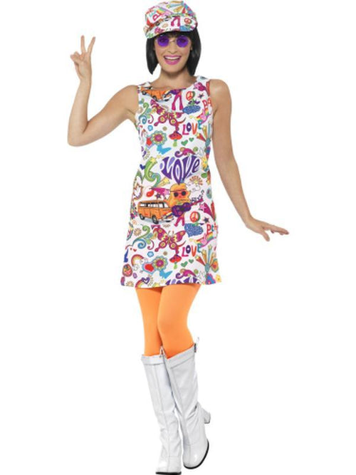 60s Groovy Chick Costume-Costumes - Women-Jokers Costume Hire and Sales Mega Store