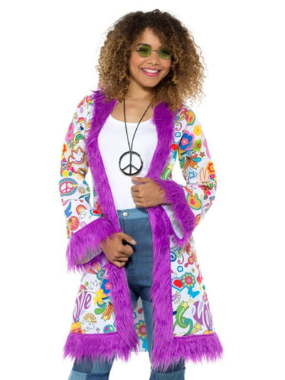 60s Groovy Hippie Coat-Costumes - Women-Jokers Costume Hire and Sales Mega Store