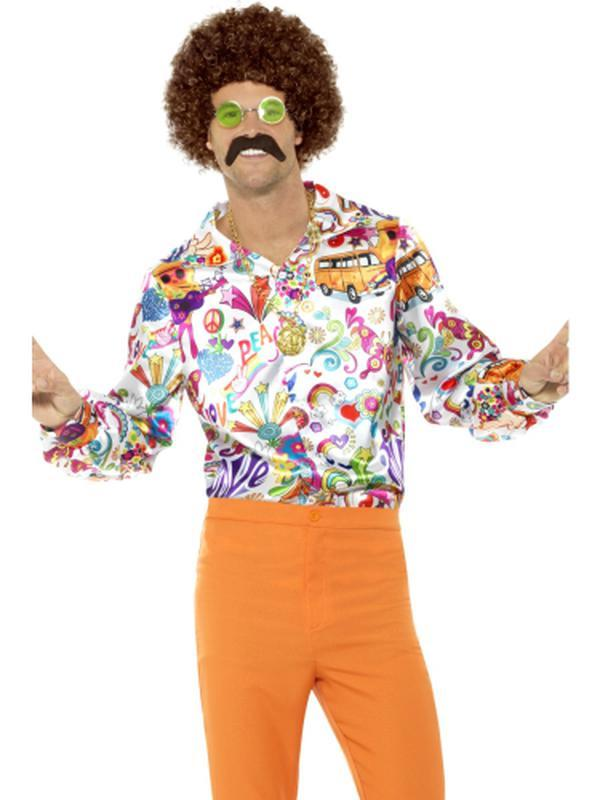 60s Groovy Shirt-Costumes - Mens-Jokers Costume Hire and Sales Mega Store