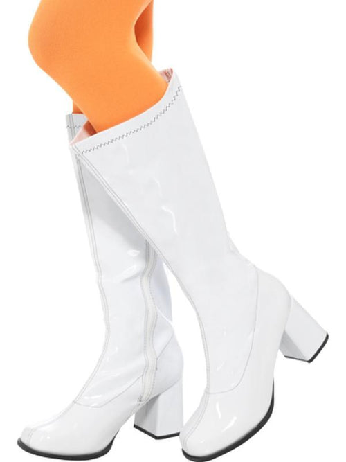 60s Ladies GoGo Boots - 3 inch Heel-Leg Wear-Jokers Costume Hire and Sales Mega Store