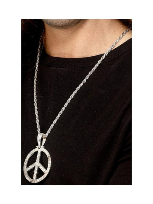 '60s Peace Sign Hippie Medallion-Costume Accessories-Jokers Costume Hire and Sales Mega Store