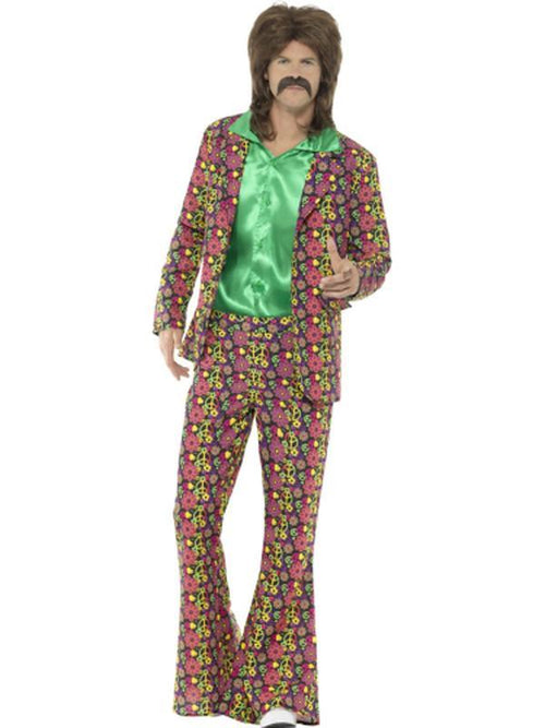 60s Psychedelic CND Suit-Costumes - Mens-Jokers Costume Hire and Sales Mega Store
