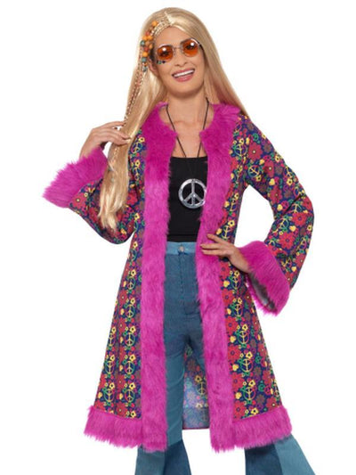 60s Psychedelic Hippie Coat-Costumes - Women-Jokers Costume Hire and Sales Mega Store