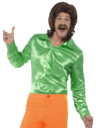 60s Shirt, Green-Costumes - Mens-Jokers Costume Hire and Sales Mega Store