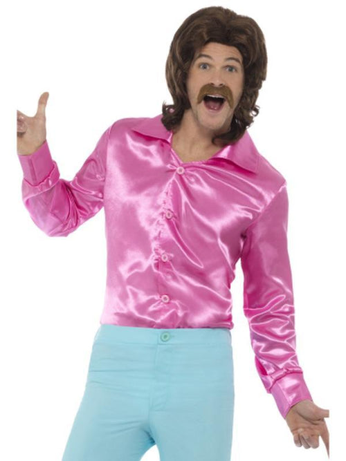 60s Shirt, Pink-Costumes - Mens-Jokers Costume Hire and Sales Mega Store