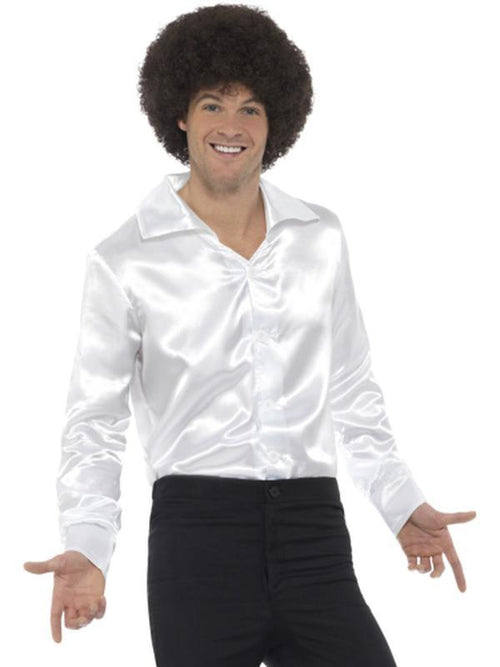 60s Shirt, White-Costumes - Mens-Jokers Costume Hire and Sales Mega Store