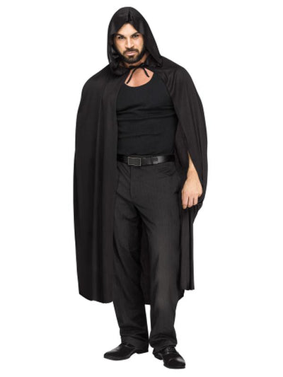 "68""Hooded Cape - Black-Costume Accessories-Jokers Costume Hire and Sales Mega Store"