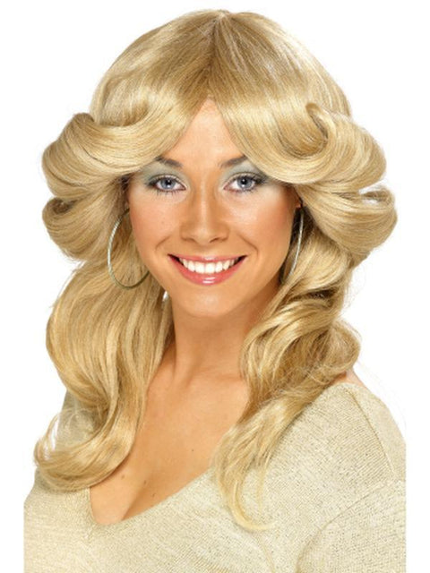 70s Flick Wig - Blonde-Jokers Costume Mega Store