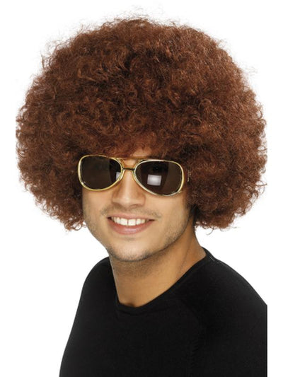70s Funky Afro Wig - Brown-Wigs-Jokers Costume Hire and Sales Mega Store