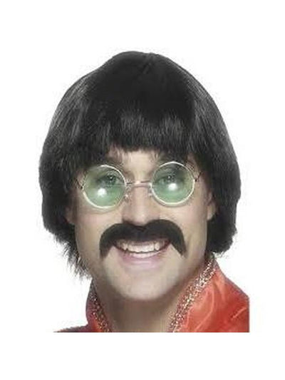 70s Mersey Wig & Tash-Wigs-Jokers Costume Hire and Sales Mega Store