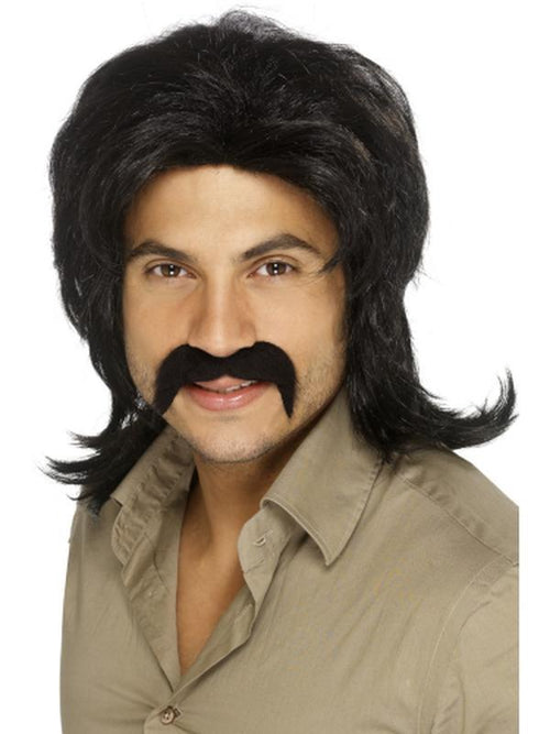 70s Retro Wig - Black-Wigs-Jokers Costume Hire and Sales Mega Store