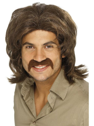 70s Retro Wig - Brown-Wigs-Jokers Costume Hire and Sales Mega Store