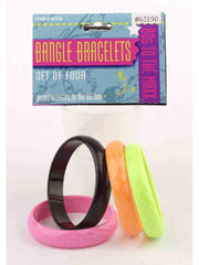 80'S Bangle Bracelets(4/Set)-Costume Accessories-Jokers Costume Hire and Sales Mega Store