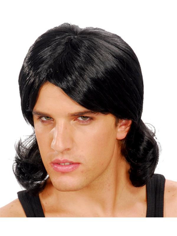 80s Bogan Mullet Wig - Black-Wigs-Jokers Costume Hire and Sales Mega Store