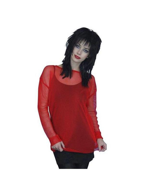 80s Fishnet Top RED Unisex-Costume Accessories-Jokers Costume Hire and Sales Mega Store