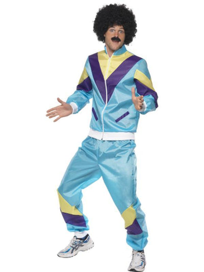 80s Height of Fashion Shell Suit Costume, Mens-Costumes - Mens-Jokers Costume Hire and Sales Mega Store