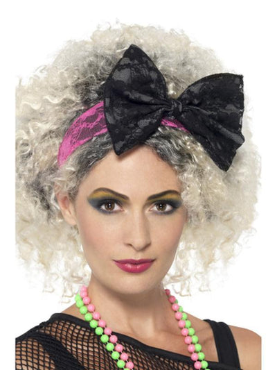 80s Lace Headband-Hats and Headwear-Jokers Costume Hire and Sales Mega Store